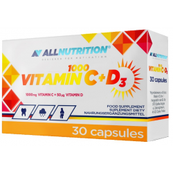 Witamina C 1000mg+D3 AllNutrition