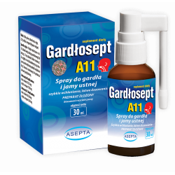 Gardłosept A11 spray do gardła i jamy ustnej 30ml Asepta